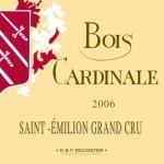 Etiquette Bois Cardinale 2006