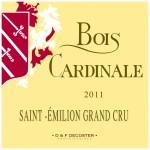 Etiquette Bois Cardinale 2011