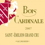 Etiquette Bois Cardinale 2007