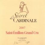 Etiquette Secret de Cardinale 2007