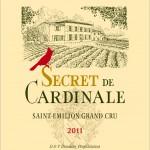 Etiquette Secret de Cardinale 2011